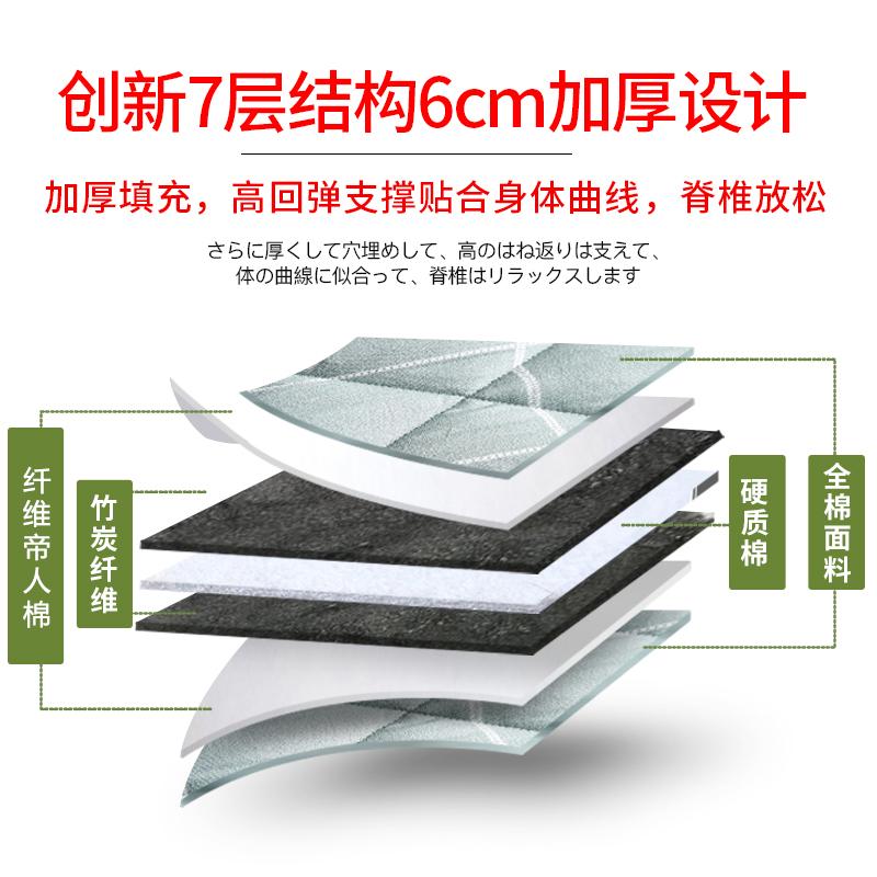全棉榻榻米床垫0.9m单人学生宿舍1.8m床褥子1.2折叠地铺睡垫家用