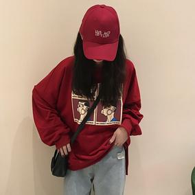 2018秋季新款卫衣外套韩版百搭宽松学生印花显瘦长袖上衣女装潮