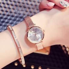 金米歐簡約時尚小巧女性潮流手表鋼帶女生石英表正品學生韓版手表
