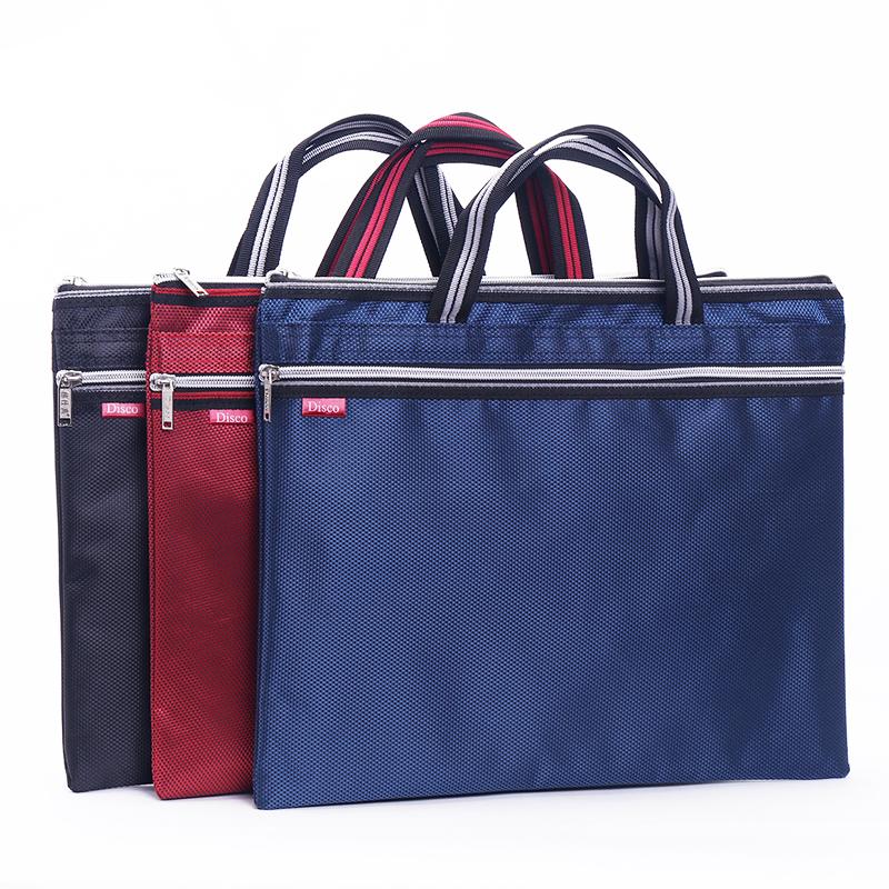 防水多层资料袋女士帆布手提包男士商务公文包收纳文件袋 A4 韩国