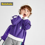Balabala Boys' Clothing Children's Autumn and Winter Children's Children's Blouse Korean version plus velvet coat