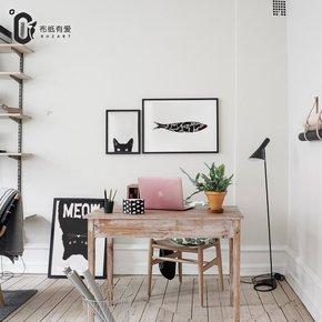 布纸有爱 鱼与猫 餐厅装饰画北欧客厅墙壁画现代简约单身公寓挂画