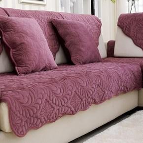 绒面欧式坐垫套舒适的沙发防滑套巾短毛绒沙发垫冬天秋冬毛绒沙发