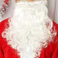 Christmas decorations Santa Claus costumes Santa Claus fake beard Santa Claus simulation bearded