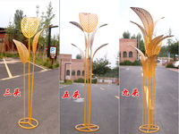 New Sen wedding props golden banana tree road cited five wrought iron banana leaf wedding stage decoration decoration