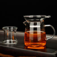 Heat-resistant glass thickening cup with tea leak Kung Fu tea set tea round cup filter tea