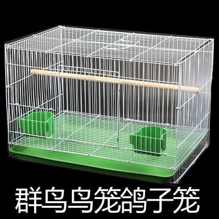 金属鸟笼鹩哥鸽子中群笼大群笼可定做 大号 大型铁艺鸟笼