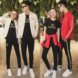 New 2019 lovers wear embroidery crown men and women casual sportswear suit spring and autumn sweater two or three sets of tide