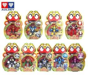 正版奥迪双钻 快乐酷宝2变形益智儿童玩具蛙王白天鹅雷蛙蜻蜓酷宝