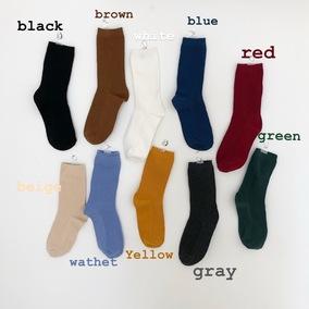 withgirls/九月新品 你们一直问的纯色毛线袜中筒长袜