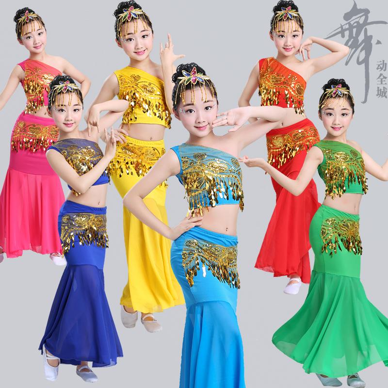 傣族舞演出服儿童