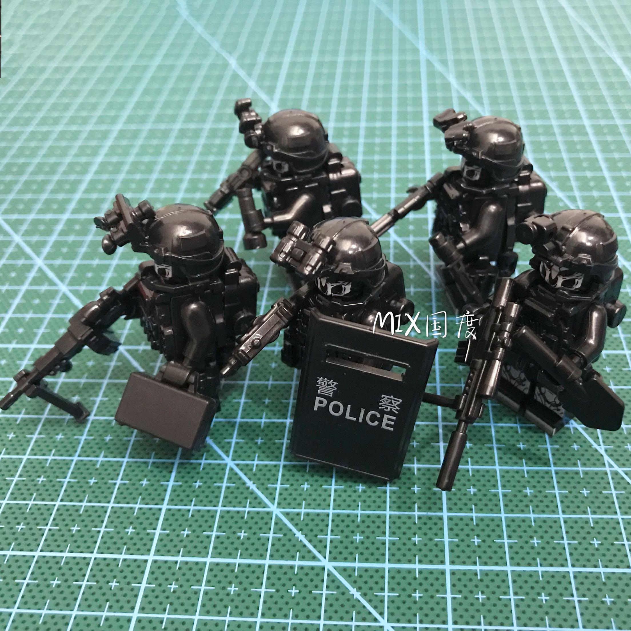 幽靈反恐特戰小隊限量珍藏版武裝全套樂得品高sy積木玩具配件人仔