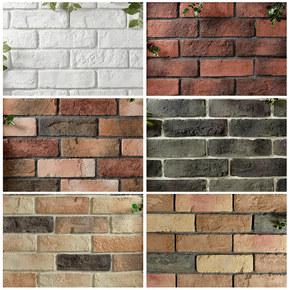 白色文化砖客厅电视背景墙现代简约复古别墅外墙砖瓷砖红砖文化石