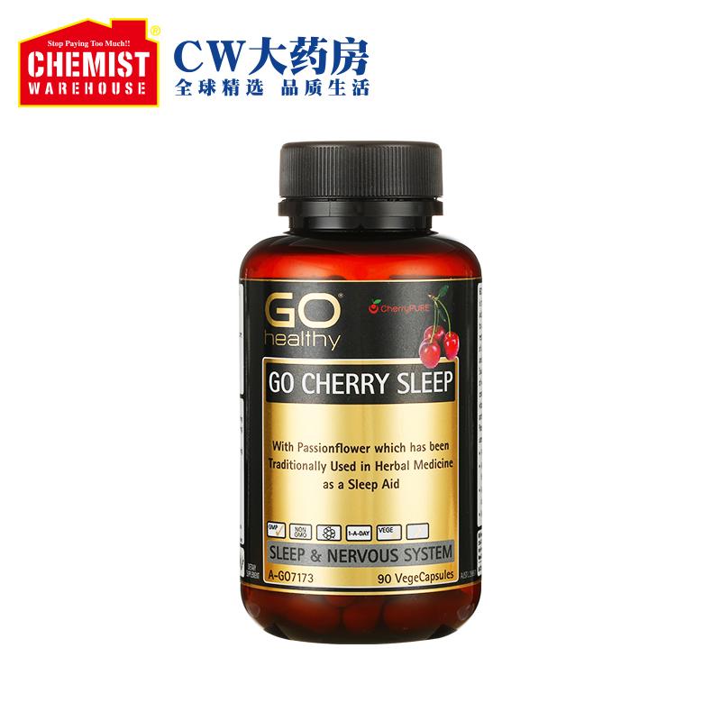 GO Healthy 樱桃助眠片90片澳洲进口CW