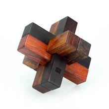 鲁班锁 六种名贵红木材质组合 中国风益智礼品 特8外 匠艺
