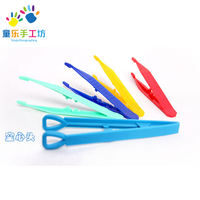 Child safety plastic tweezers kindergarten middle class large class scientific experimental tool area material