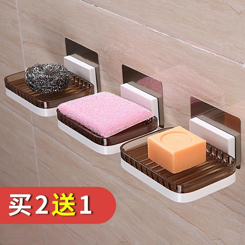 浴室吸盘肥皂盒大号壁挂香皂盒置物架免打孔卫生间沥水肥皂架皂托