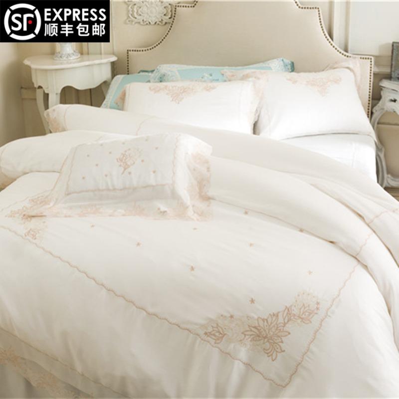 法式纯色床单