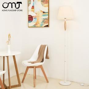北欧风格灯具简约现代卧室书房床头灯创意个性客厅布艺led落地灯