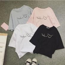 宽松韩版潮学生百搭上衣服短袖t恤女2018夏季新款原宿bf半袖体恤