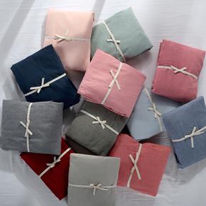 无印良品床笠单件床单天竺棉水洗棉全棉纯色日式1.2 1.5 1.8m床罩