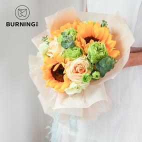 贝影 雪梨纸包装纸 花束内衬纸 鲜花礼品包装纸纯色包花纸40张