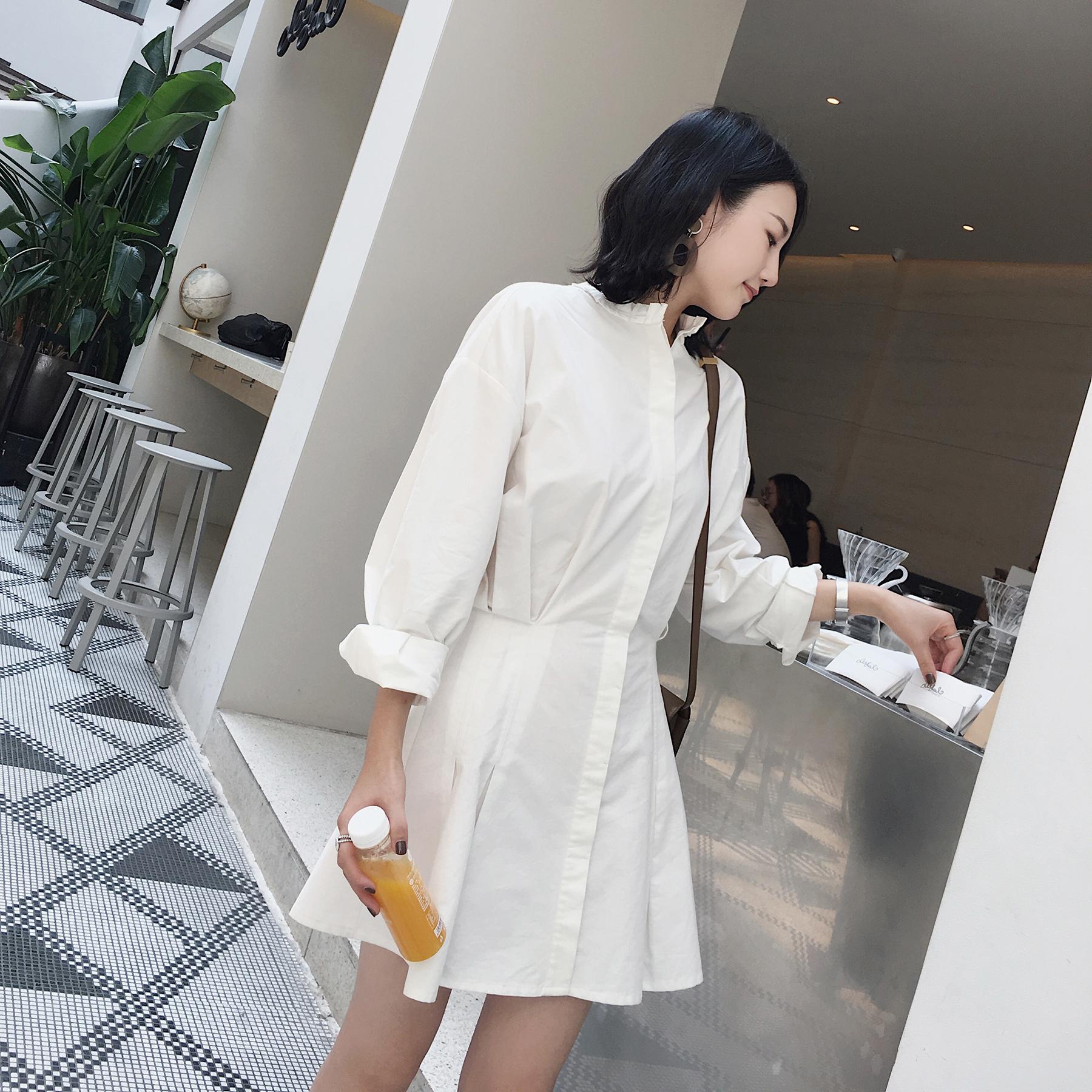 白色棉质裙