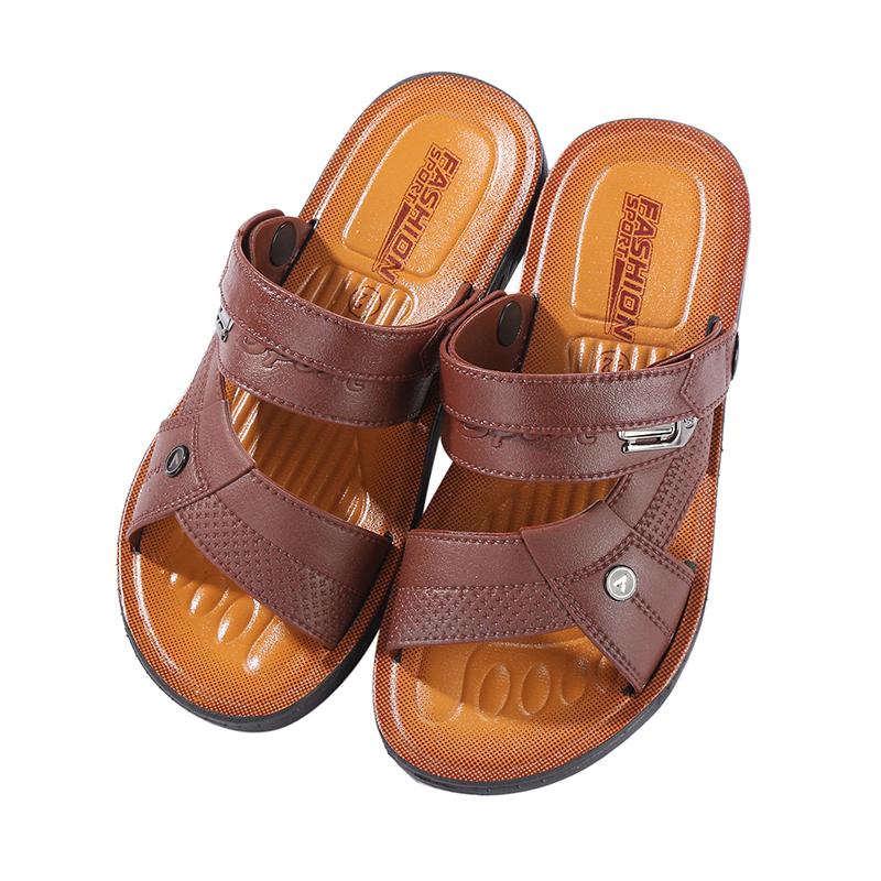 2019夏季新款男士凉鞋透气休闲凉拖越南沙滩鞋防滑两用大码拖鞋