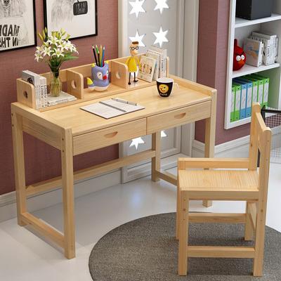 原木学习桌椅套
