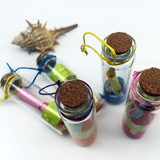 A box of 12 ocean wishing bottles quartz sand with conch DIY glass bottle drift bottle small gift