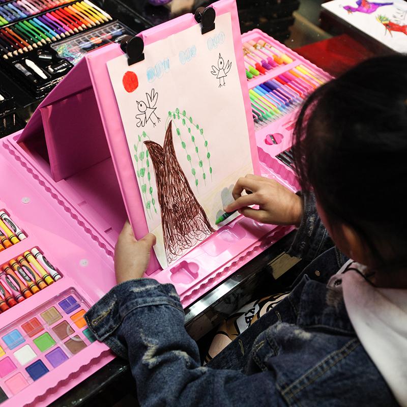 儿童绘画套装学习用品画笔画画工具水彩笔蜡笔美术文具节日礼品
