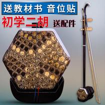 铜轴二胡送全套配件专胰玄胡初学二胡二胡机械轴二胡乐器