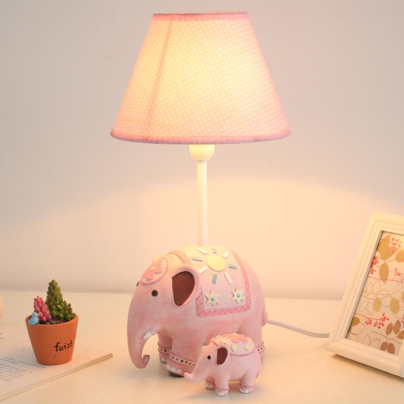 田园创意卡通台灯儿童喂奶灯具卧室可调节暖光大象床头灯女生礼物1元优惠券