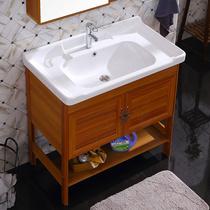 洗脸盆卫生间单盆圆餐厅老式一体盆洗手盆台盆柜洗手池洗漱台家用