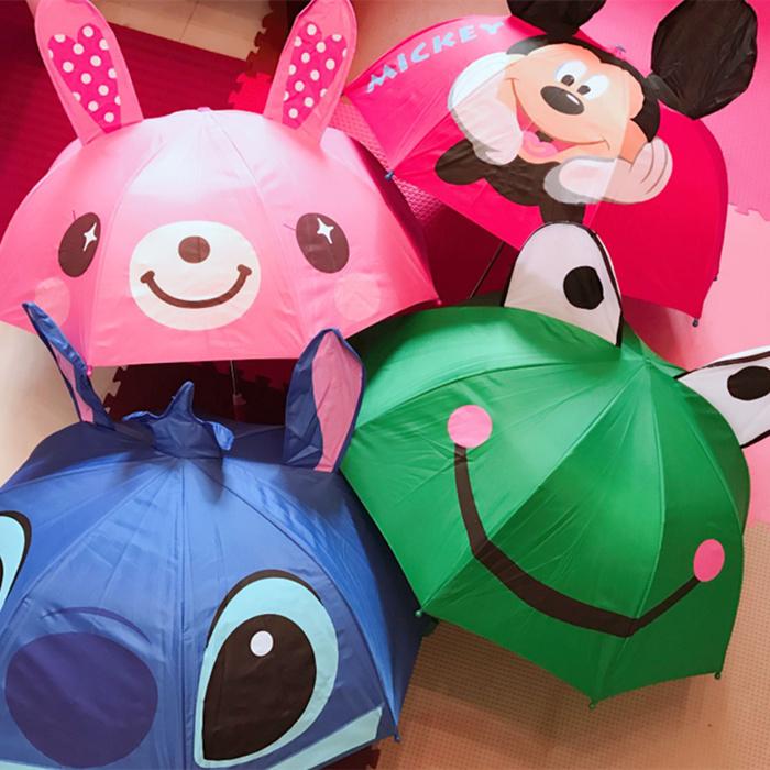 鱼儿baby新品迪士尼3D宝宝太阳伞防晒银胶超轻儿童卡通伞小雨伞