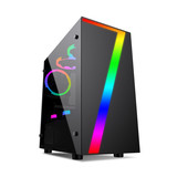 Overclocking 3 small seven desktop computer chassis RGB light MATX small chassis back line water cooled chassis host mini box