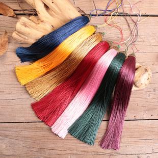 中国结涤纶流苏穗子手工实心剑穗乐器古筝装 饰可定做25厘米 加长款