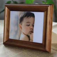 实木相框摆台创意宜家儿童照片像框7寸6 5 8 10 12寸A4相片架定做