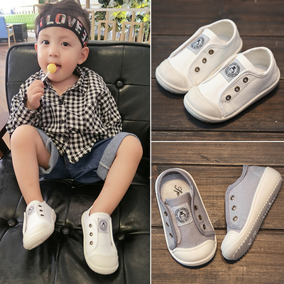 男女宝宝鞋子学步鞋软底春秋婴儿帆布鞋儿童布鞋小童鞋0-1-3岁潮2