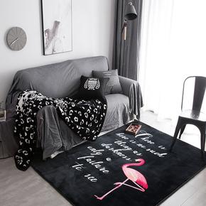 Ins潮牌个性书房地毯 卧室床尾床边毯榻榻米地垫子客厅家用满铺