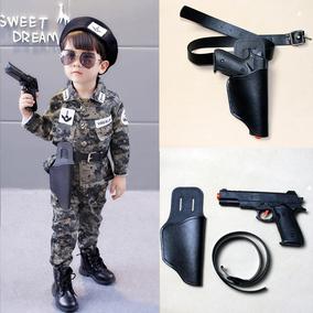儿童迷彩服搭配枪套腰带男童配饰皮带塑料玩具打响手枪套演出道具