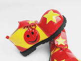 Oversized mirror leather clown shoes clown dress high-end big circus shoes high-end anime funny show shoes
