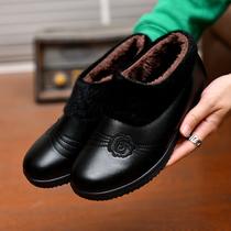 尖头高跟鞋白色便宜秋天纯色粗跟中老年人橡胶职业黑色女士皮鞋