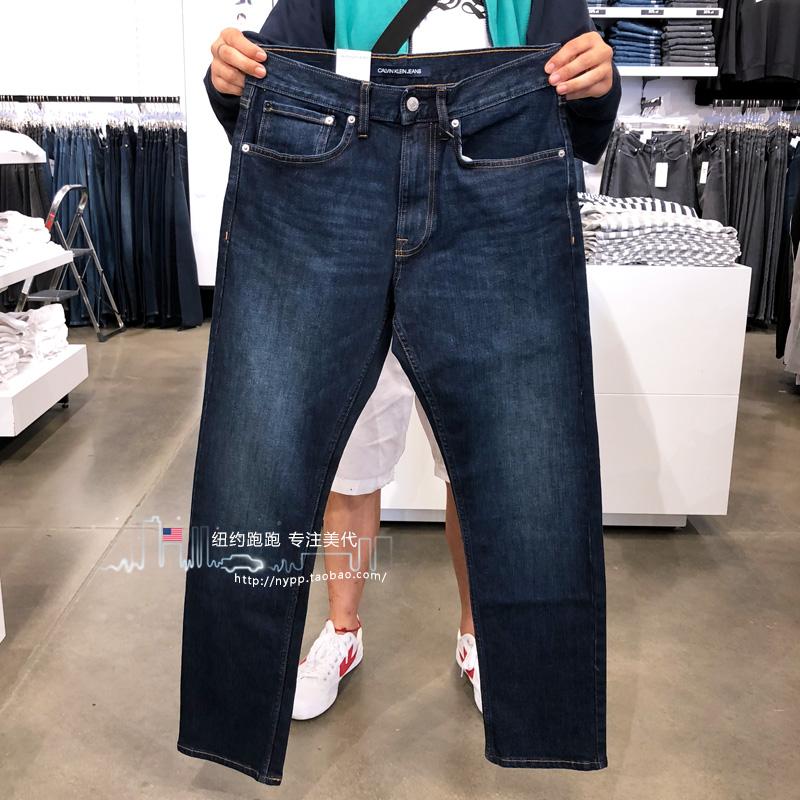 @纽约跑跑 美国Calvin Klein 新款男士简约时尚直筒牛仔裤男,新款ck牛仔裤