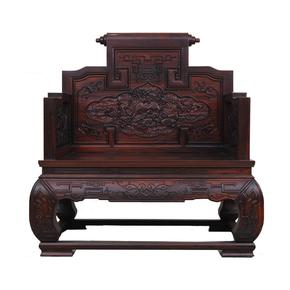 印尼黑酸枝木沙发阔叶黄檀中式实木客厅沙发组合麒麟宝座红木家具