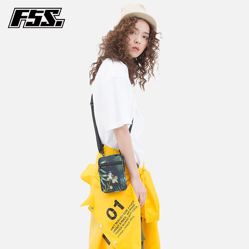 f5s潮流休闲印花旅行护照包证件包袋单肩斜挎小挂包手机包收纳包
