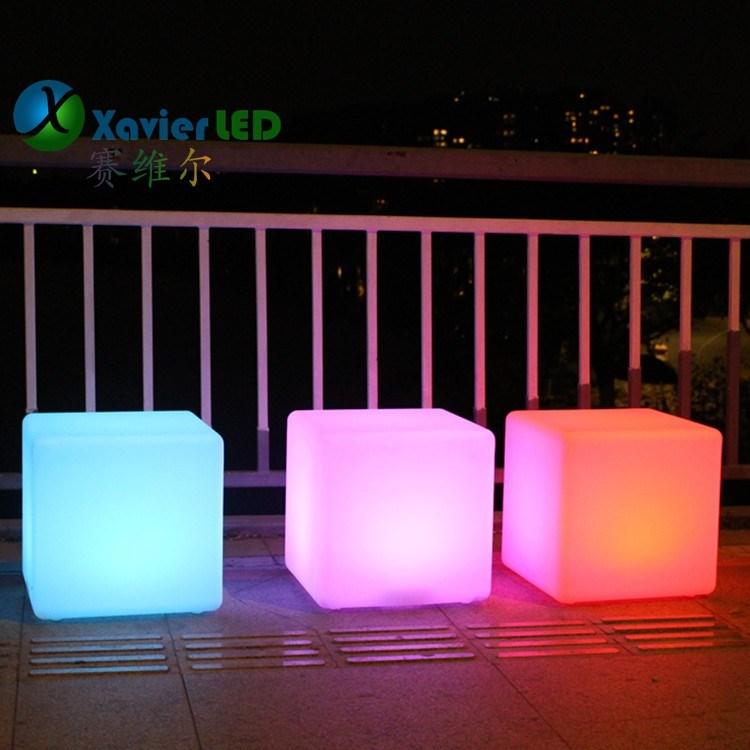 户外led发光方凳子茶几庭院灯发光立方体促销夜场酒吧咖啡桌椅子