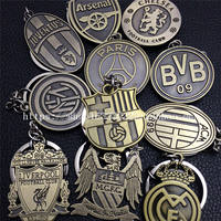 Barcelona Real Madrid Keychain MU Dot BR Liverpool New Juventus Key Pendant Football Fan Gifts Around