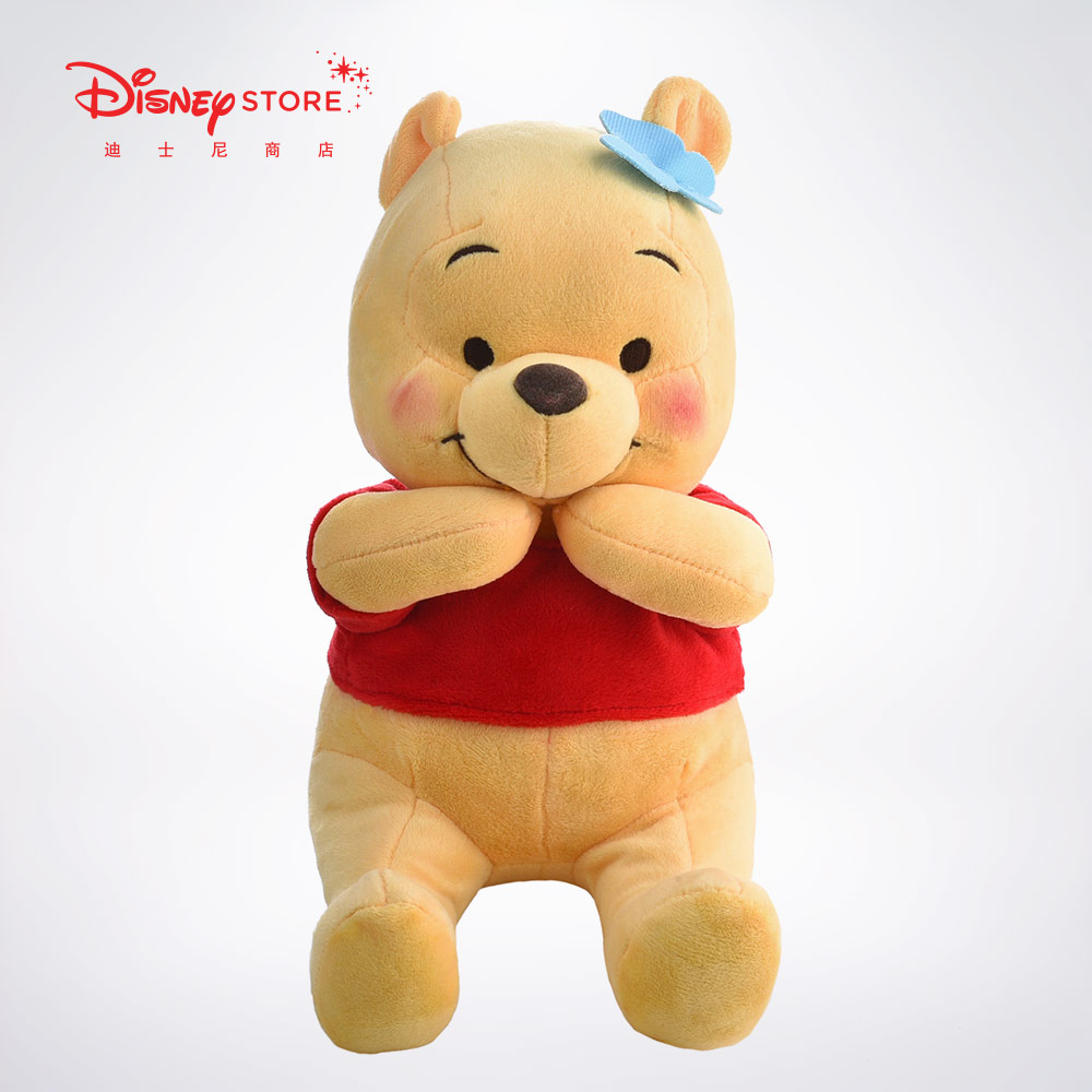 迪士尼商店 经典卡通形象小熊维尼毛绒玩具可爱儿童玩偶公仔