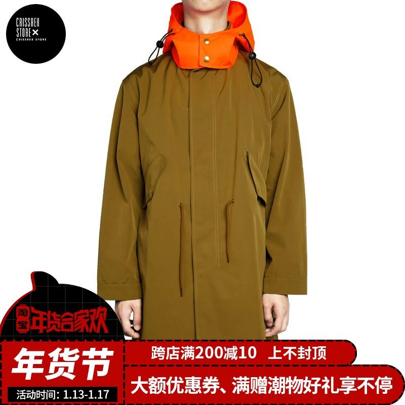 MYGE 2018F/W PRINTED WINDBREAKER 标语印花户外风衣 中长款风衣